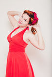 Young woman in retro style Royalty Free Stock Photo