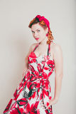 Young woman in retro style Royalty Free Stock Photography