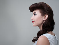 Young woman, retro styling Stock Photos