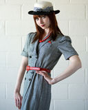 Young Woman in retro suit Stock Photography