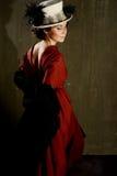Young woman in retro syle Stock Photo