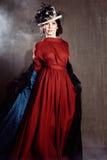 Young woman in retro syle Stock Photos