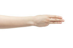 Young woman right hand counting three royalty free stock photo