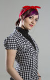 Young woman in Rockabilly style Stock Photography