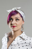 Young woman in Rockabilly styles Stock Image
