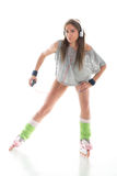 Young woman in roller skates Royalty Free Stock Images