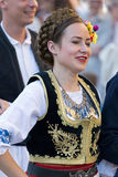 Young woman from Romania in traditional costume 8 Stock Photography