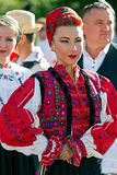 Young woman from Romania in traditional costume 14 Stock Image