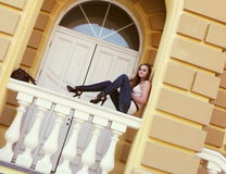 Young Woman in a Romantic Mood Outdoors Royalty Free Stock Photos