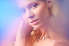 Young woman romantic portrait Stock Image