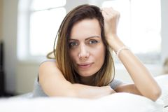 Young woman in the room Royalty Free Stock Photo
