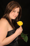 Young woman with rose Royalty Free Stock Photos