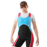 Young woman in rowing suit Royalty Free Stock Photography