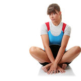 Young woman in rowing suit Stock Photos