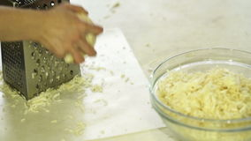 Young Woman Rubs On The Grater Seldirey stock footage