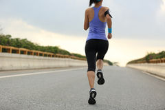 Young woman runner running Royalty Free Stock Photo