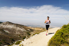 Young Woman Running Stock Images