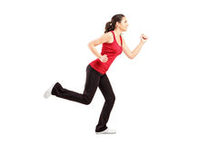 A young woman running Stock Photo