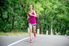 Young woman running Royalty Free Stock Photo
