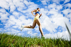 Young Woman Running Outdoor Royalty Free Stock Images
