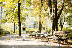 Young woman running in the park Stock Photos
