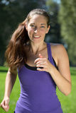 Young woman running training in nature Royalty Free Stock Photos