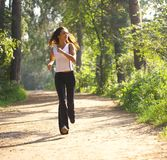 Young woman runnning Stock Photos