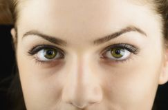 Young woman's eyes close-up Royalty Free Stock Photos
