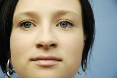 Young woman's face. Looking Royalty Free Stock Images