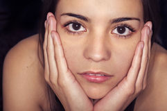 Young woman's face Stock Image