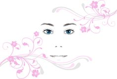 Young woman's face Royalty Free Stock Image