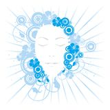 Young woman's face royalty free illustration