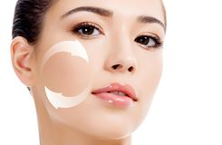 Free Young Woman`s Face, Antiaging Concept Stock Photos - 102757673