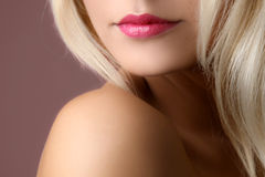 Young woman's face fragment Royalty Free Stock Image