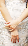 The young woman's hands slim Royalty Free Stock Photography