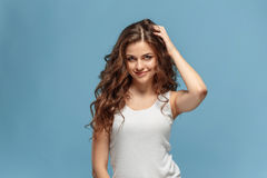 The young woman`s portrait with happy emotions Royalty Free Stock Photography