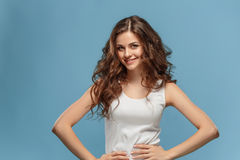 The young woman`s portrait with happy emotions Royalty Free Stock Photo