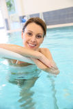 Young woman in s swimming pool Stock Image