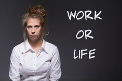 Young woman's work Stock Image