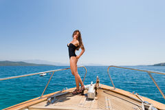 Young woman Sailing Royalty Free Stock Image