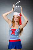 Young woman sailor Royalty Free Stock Photos