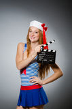 Young woman sailor Stock Photo