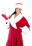 Young woman in santa clause costume. Stock Photos