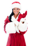 Young woman in santa clause costume. Stock Photography