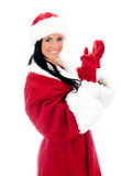 Young woman in santa clause costume. Royalty Free Stock Photos
