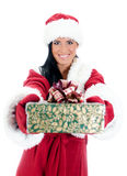Young woman in santa costume Royalty Free Stock Image