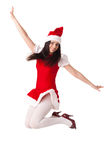 Young woman in Santa costume. Christmas. Royalty Free Stock Image