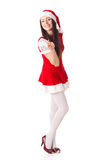 Young woman in Santa costume. Christmas. Stock Image