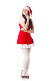 Young woman in Santa costume. Christmas. Stock Photos