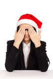 Young woman in santa hat Royalty Free Stock Image